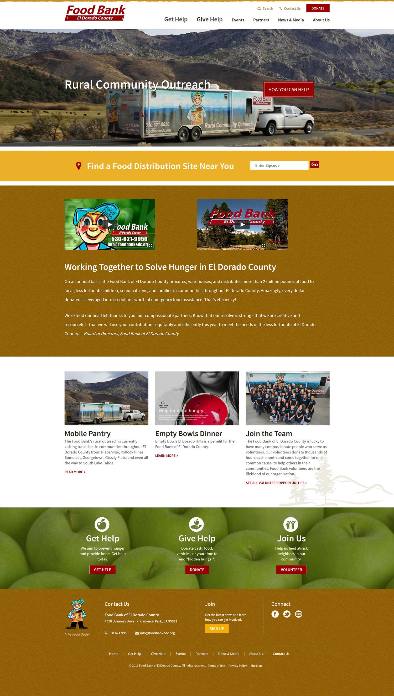 El Dorado Food Bank Volunteer